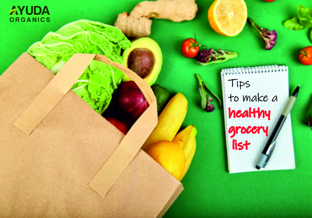 Tips to make a healthy grocery list